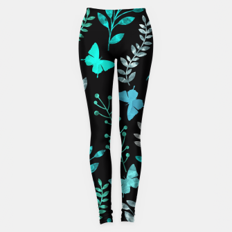 Imagen en miniatura de Watercolor Flowers & Butterfly V Leggings, Live Heroes