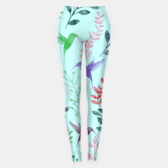 Imagen en miniatura de Watercolor Flowers & Birds III Leggings, Live Heroes