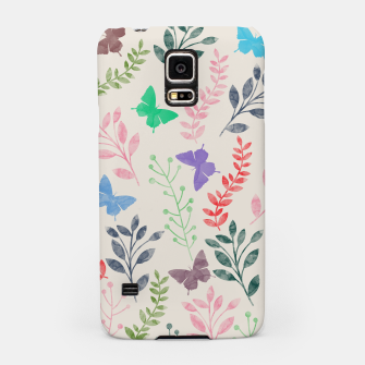 Miniature de image de Watercolor Flowers & Butterfly  Samsung Case, Live Heroes
