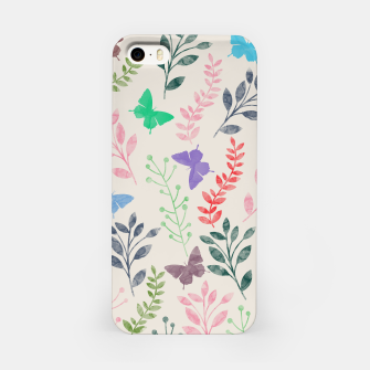 Miniature de image de Watercolor Flowers & Butterfly  iPhone Case, Live Heroes