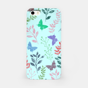 Miniature de image de Watercolor Flowers & Butterfly  II iPhone Case, Live Heroes