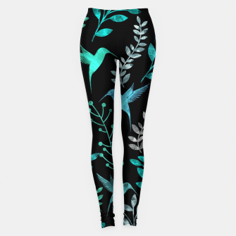 Imagen en miniatura de Watercolor Flowers & Birds IV Leggings, Live Heroes