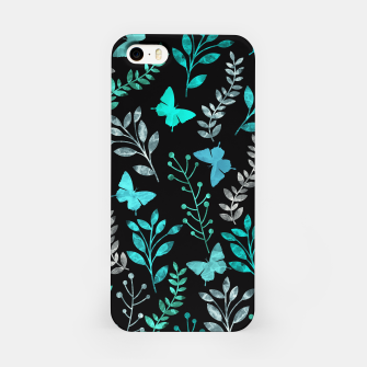 Miniature de image de Watercolor Flowers & Butterfly V iPhone Case, Live Heroes