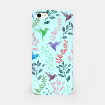 Miniature de image de Watercolor Flowers & Birds III iPhone Case, Live Heroes
