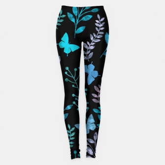 Imagen en miniatura de Watercolor Flowers & Butterfly III Leggings, Live Heroes