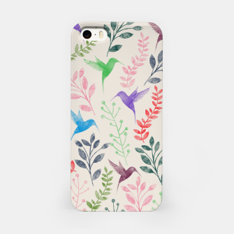 Miniature de image de Watercolor Flowers & Birds  iPhone Case, Live Heroes