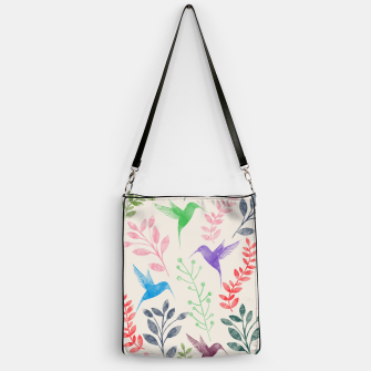 Imagen en miniatura de Watercolor Flowers & Birds  Handbag, Live Heroes