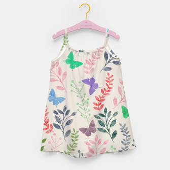 Miniature de image de Watercolor Flowers & Butterfly  Girl's Dress, Live Heroes