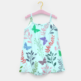 Miniature de image de Watercolor Flowers & Butterfly  II Girl's Dress, Live Heroes