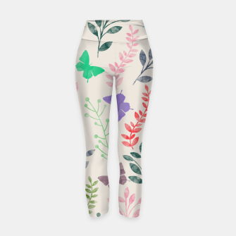 Miniature de image de Watercolor Flowers & Butterfly  Yoga Pants, Live Heroes