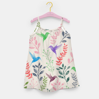 Miniature de image de Watercolor Flowers & Birds  Girl's Dress, Live Heroes