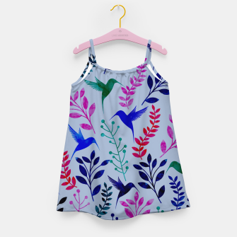Miniature de image de Watercolor Flowers & Birds II Girl's Dress, Live Heroes