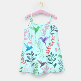 Miniature de image de Watercolor Flowers & Birds III Girl's Dress, Live Heroes