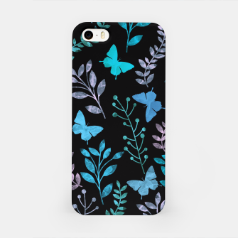 Miniature de image de Watercolor Flowers & Butterfly III iPhone Case, Live Heroes