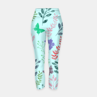 Miniature de image de Watercolor Flowers & Butterfly  II Yoga Pants, Live Heroes