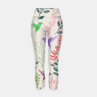 Miniature de image de Watercolor Flowers & Birds  Yoga Pants, Live Heroes