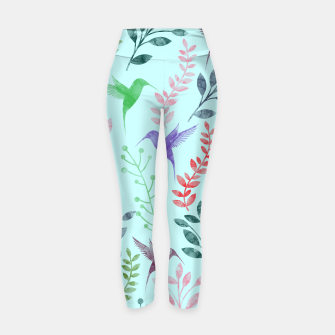 Miniature de image de Watercolor Flowers & Birds III Yoga Pants, Live Heroes