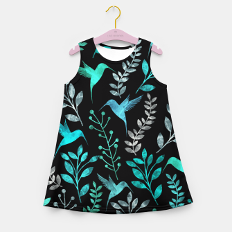Miniature de image de Watercolor Flowers & Birds IV Girl's Summer Dress, Live Heroes