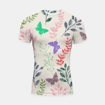 Miniature de image de Watercolor Flowers & Butterfly  Shortsleeve Rashguard, Live Heroes