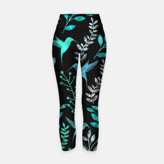 Miniature de image de Watercolor Flowers & Birds IV Yoga Pants, Live Heroes