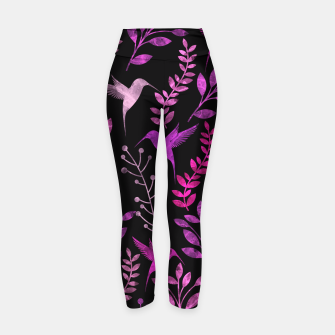 Miniature de image de Watercolor Flowers & Birds V Yoga Pants, Live Heroes