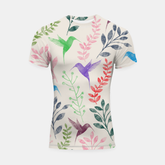 Miniature de image de Watercolor Flowers & Birds  Shortsleeve Rashguard, Live Heroes