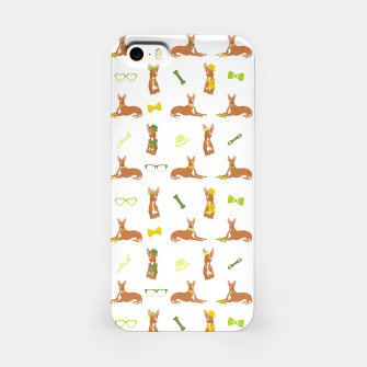 Miniature de image de Pharaoh Hound Pattern Green iPhone Case, Live Heroes