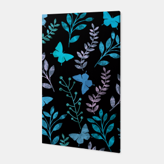 Thumbnail image of Watercolor Flowers & Butterfly III Canvas, Live Heroes