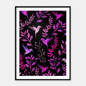 Thumbnail image of Watercolor Flowers & Birds V Framed poster, Live Heroes
