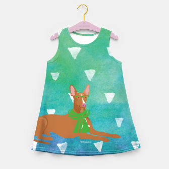 Miniature de image de Pharaoh Hound Watercolour Girl's Summer Dress, Live Heroes