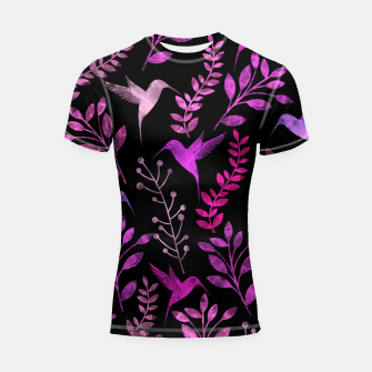 Miniature de image de Watercolor Flowers & Birds V Shortsleeve Rashguard, Live Heroes