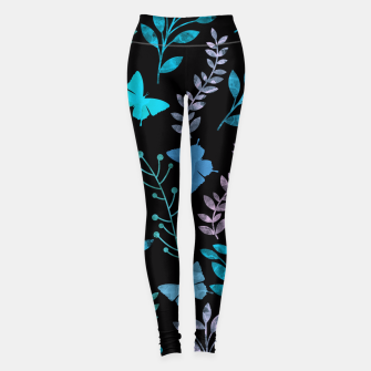 Thumbnail image of Watercolor Flowers & Butterfly III Leggings, Live Heroes