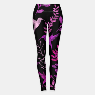 Thumbnail image of Watercolor Flowers & Birds V Leggings, Live Heroes