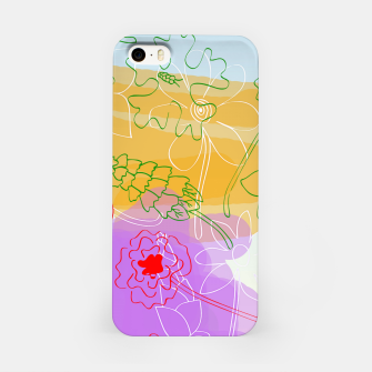 Miniature de image de  Doodle flowers iPhone Case, Live Heroes