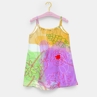 Miniature de image de  Doodle flowers Girl's Dress, Live Heroes
