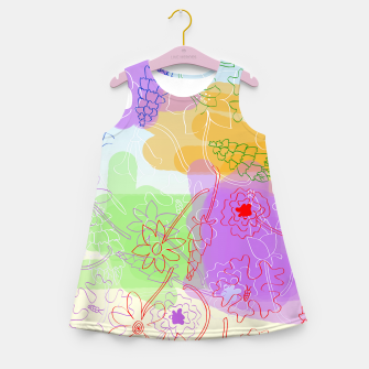 Miniature de image de  Doodle flowers Girl's Summer Dress, Live Heroes