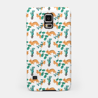 Miniature de image de tropical cat Samsung Case, Live Heroes