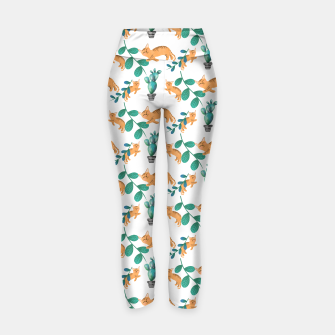 Miniature de image de tropical cat Yoga Pants, Live Heroes
