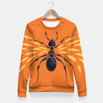 Imagen en miniatura de Abstract Winged Ant Fitted Waist Sweater, Live Heroes