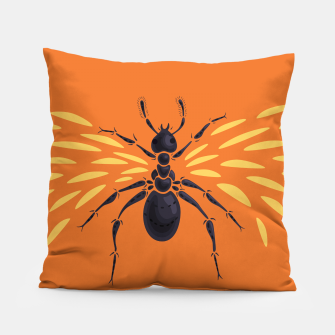 Thumbnail image of Abstract Winged Ant Pillow, Live Heroes