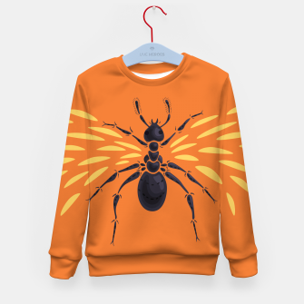 Thumbnail image of Abstract Winged Ant Kid's Sweater, Live Heroes