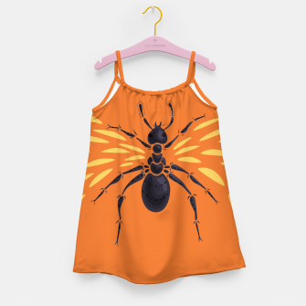 Thumbnail image of Abstract Winged Ant Girl's Dress, Live Heroes