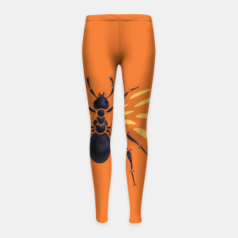 Thumbnail image of Abstract Winged Ant Girl's Leggings, Live Heroes