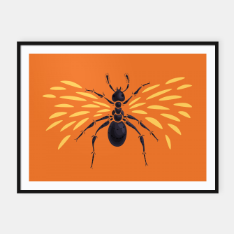 Thumbnail image of Abstract Winged Ant Framed poster, Live Heroes