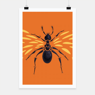 Thumbnail image of Abstract Winged Ant Poster, Live Heroes