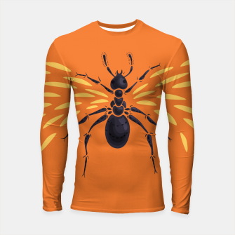 Thumbnail image of Abstract Winged Ant Longsleeve Rashguard , Live Heroes