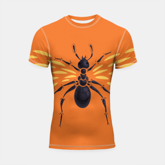 Miniature de image de Abstract Winged Ant Shortsleeve Rashguard, Live Heroes