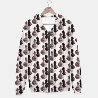 Thumbnail image of Pencil Drawn Chess Pawns Pattern Hoodie, Live Heroes