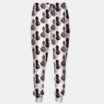 Thumbnail image of Pencil Drawn Chess Pawns Pattern Sweatpants, Live Heroes