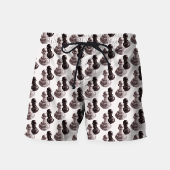 Thumbnail image of Pencil Drawn Chess Pawns Pattern Swim Shorts, Live Heroes